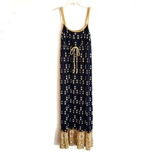 Juicy Couture / Navy & Yellow Jackie Maxi Dress